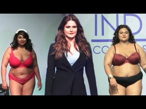 Zareen Khan and Very Fat Girls Ramp Walk | Plus Size Fashion Show