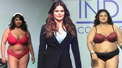Zareen Khan and Very Fat Girls Ramp Walk | Plus Size Fashion Show