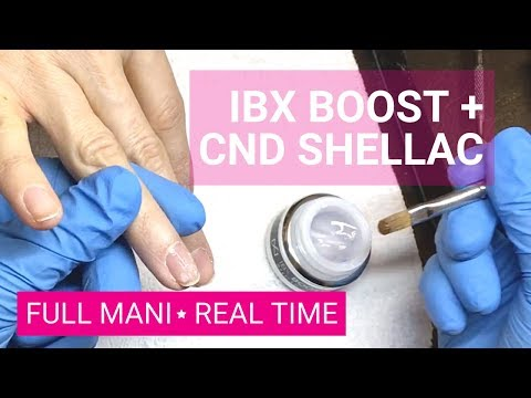IBX Boost- working on real client in real time+ CND Ruby Ritz- 30 min gel polish mani