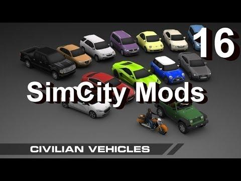 ★ SimCity Mods 5 (2013) #16 ► Civilian Vehicles (Enhancement Mod) [REVIEW]
