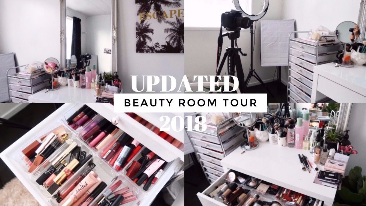 UPDATED BEAUTY ROOM TOUR + MAKEUP COLLECTION • 14
