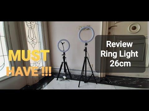 Review Ring Light 26cm MURAH MERIAH untuk youtuber pemula