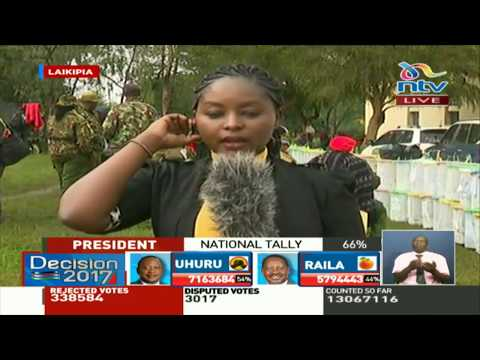 Results streaming in from Laikipia County constituencies