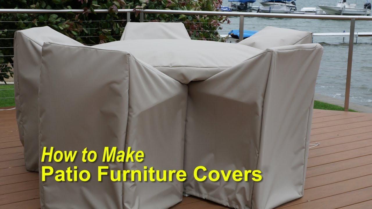 How to make patio furniture covers youtube for Patio furniture covers