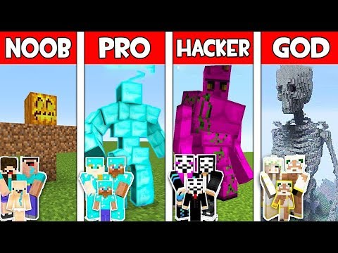 Minecraft NOOB vs PRO vs HACKER vs GOD : FAMILY GOLEM MUTANT in Minecraft Animation