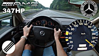 Mercedes-Benz S-Class S50 AMG W140 TOP SPEED DRIVE ON GERMAN AUTOBAHN 🏎