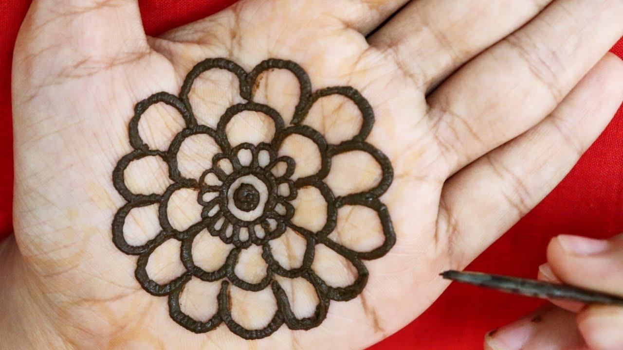 Mehndi Design Simple Flower