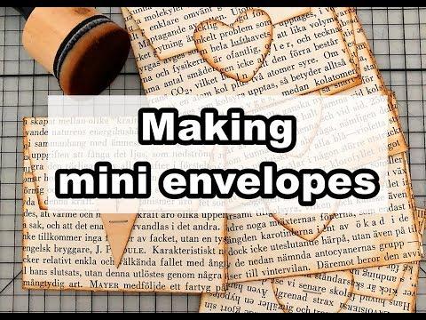 DIY mini envelopes