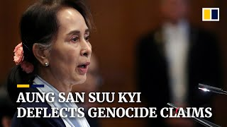 Subscribe to our channel for free here: https://sc.mp/subscribe-myanmar's leader aung san suu kyi has deflected accusations of genocide agains...