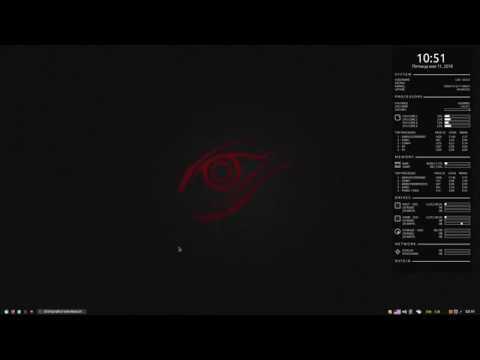 Conky и Conky Manager - системный монитор для Linux