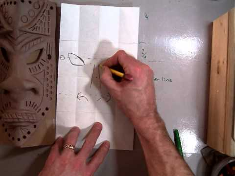 Drawing the design for an African Style Mask (Part 1/7).MOV