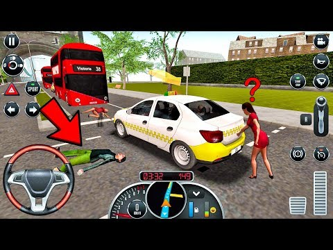 Taxi Sim 2016 #25 - CRAZY DRIVER! Taxi Game Android IOS Gameplay
