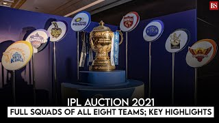 IPL Auction 2021: Full squads of all eight teams; key highlights