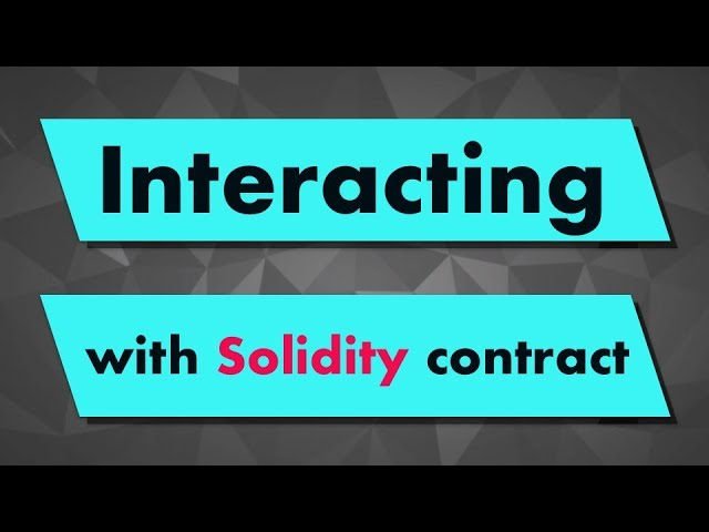 Solidity Tutorial: Interacting with a Smart Contract with Remix