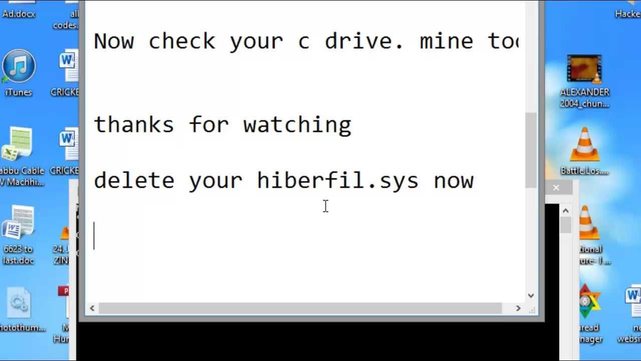 clear hiberfil sys