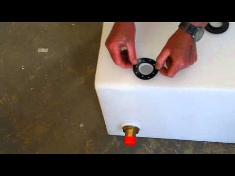 How to fit a Wema sender to a plastic tank