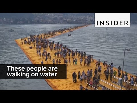 These people are walking on water