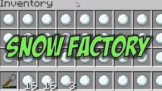 Minecraft Snow Farm Tutorial - The Snow Factory