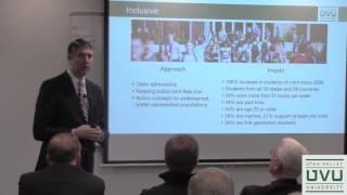 Pres Matthew Holland at UVU Business Resource Center December 8, 2016