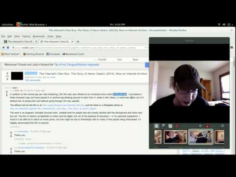 Aaron Swartz documentary freely accessable on the web:  The Internet's Own Boy