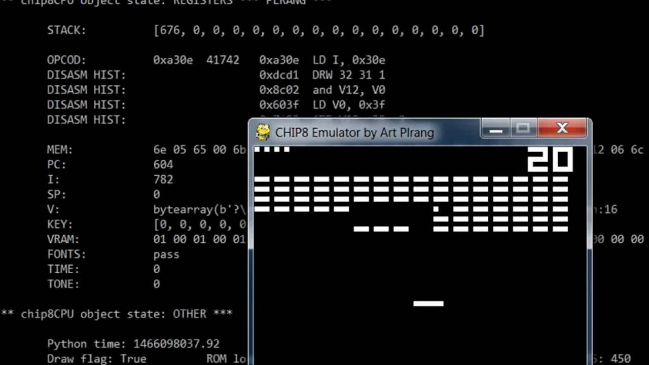 CHIP 8 emulator made with Python - Custom designs by Plrang Art