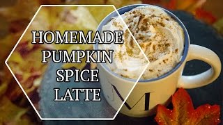 Homemade Pumpkin Spice Latte!! | Life Lemanda