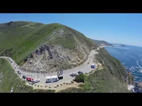 Tour of California, Bixby Bridge | Bike Race From a Drone