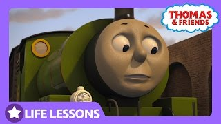percy bumped the livestock wagon   life lesson taking your time   thomas friends