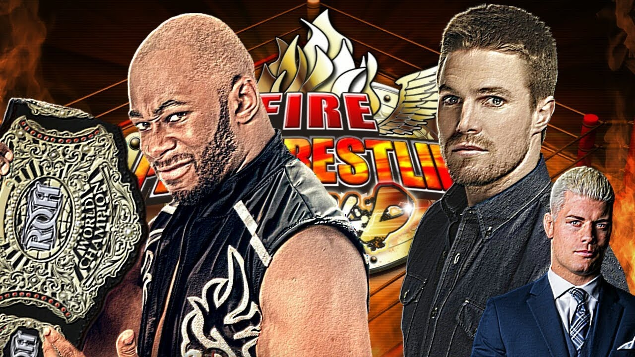 Fire Pro Wrestling World (PS4) - Jay Lethal vs Stephen Amell w/ Cody