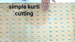 Simple kurti/suit/kameez Cutting very easy method step by step/Vanshika fashion !