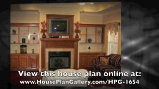 3 Bedroom House Plans - Hpg-1654-1 By House Plan Gallery