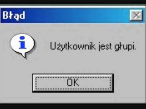 Śmieszne komunikaty w systemie Windows