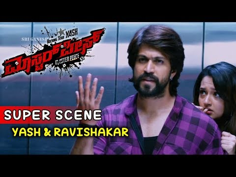 Yash Movies | Ravishankar Tries Escaping From Police Kannada Scenes | Masterpiece Kannada Movie