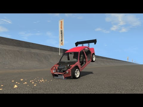 BeamNG.drive - Reverse Wheelie At 150 MPH