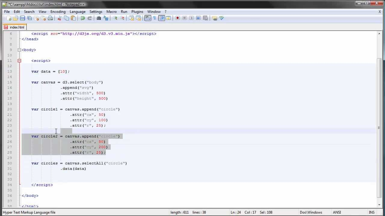 D3js tutorial 7 enter update exit youtube d3js tutorial 7 enter update exit baditri Images