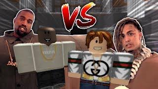 Lil Pump vs Kanye West 1v1! (ROBLOX)