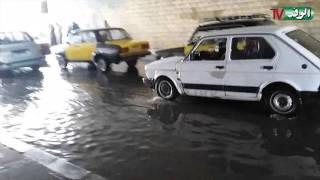 شاهد....مياة الأمطار تغطي مدخل كوبرى محرم بك بالإسكندرية