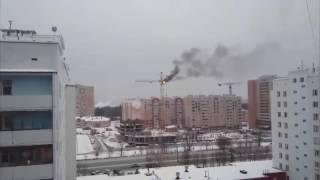 01.12.2016 Горит кран на ул. Кунгурцева (Ижевск)