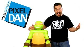 Nickelodeon Teenage Mutant Ninja Turtles 4 Foot Tall Michelangelo Figure Video Review
