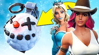 FREEZING EVERYTHING w/ NEW ITEM! (Fortnite Battle Royale)