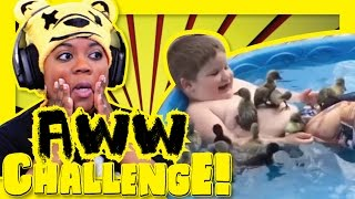 baby animals are ugly  try not to aww challenge   aychristene reacts