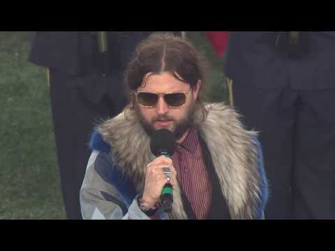 "JAY BUCHANAN (RIVAL SONS) - ""The Star-Spangled Banner"" AFC Wildcard Playoff Game, Jan 4, 2020."