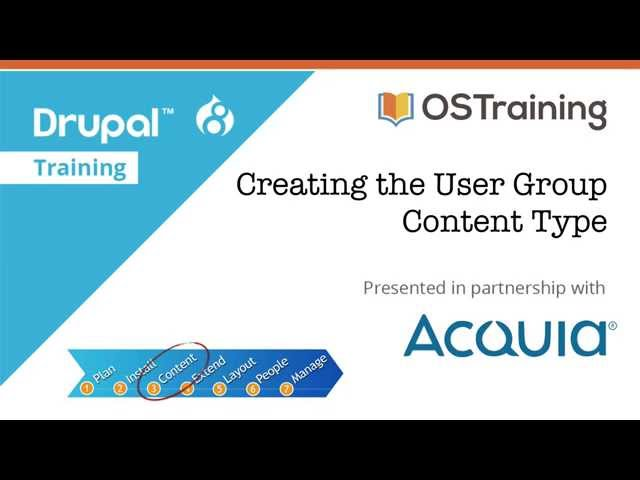 Drupal 8 Beginner, Lesson 24: Creating the User Group Content Type