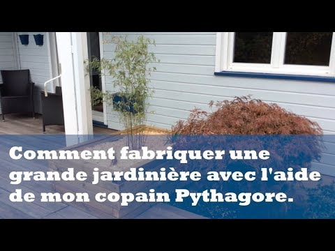 comment fabriquer une grande jardini re avec l 39 aide de mon copain pythagore youtube. Black Bedroom Furniture Sets. Home Design Ideas