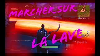How to walk on lava without taking damage on fortnite/glitch!