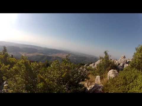 Panorama della Vallata di Bivongi da un picco di  Monte Stella (Riprese con Gopro HERO HD 2)