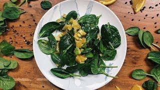 Как приготовить салат с шпинатом и апельсинами?