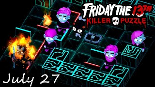 Friday the 13th Killer Puzzle Daily Death July 27 2020 Walkthrough