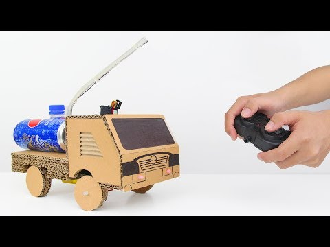 How to Make Amazing Remote Control Fire Truck from Cardboard