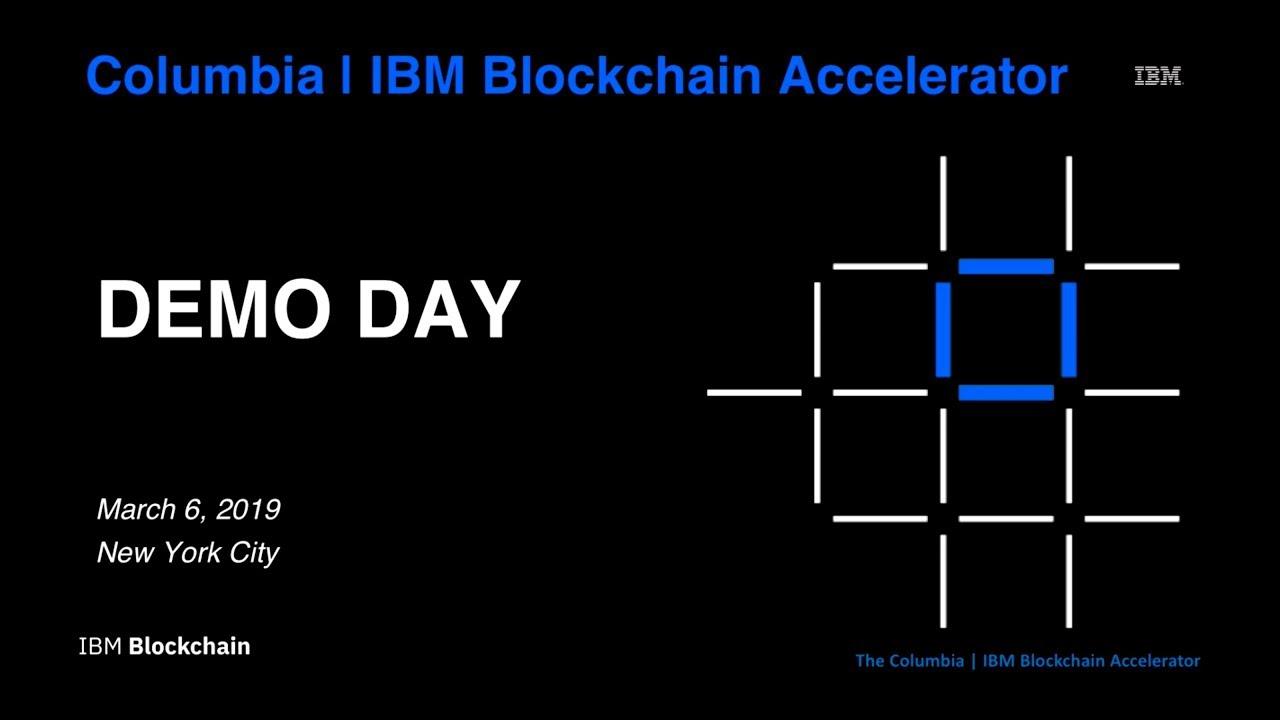 IPwe's Demo at the IBM Blockchain Accelerator Program